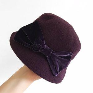 wool blend purple hat